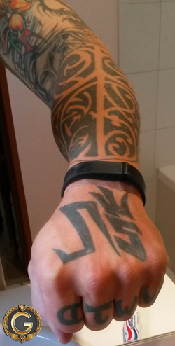 WWJD - my arm.