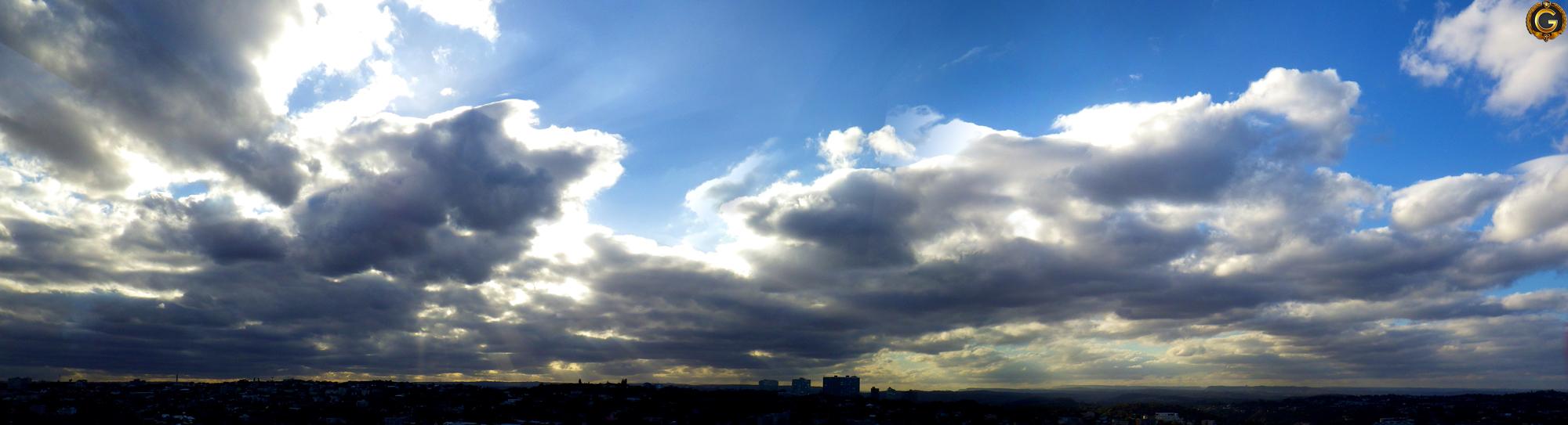 South African Big Sky Panorama, Taken with a Pentax Optio WG2